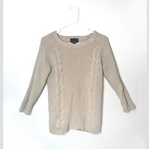 CYNTHIA ROWLEY Button Back Sweater 3/4 Sleeve